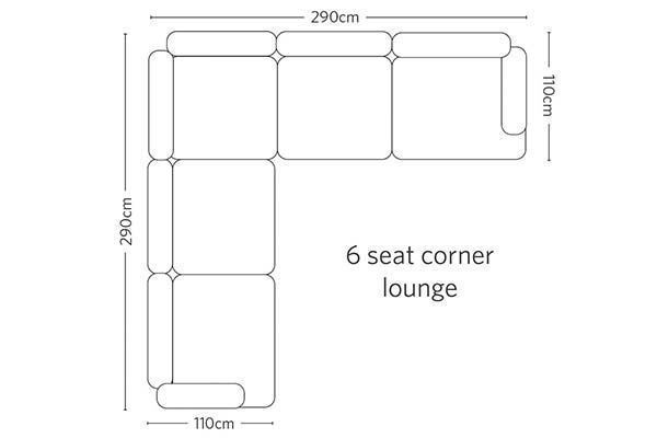Picture of Cleveland 6 Seat corner lounge