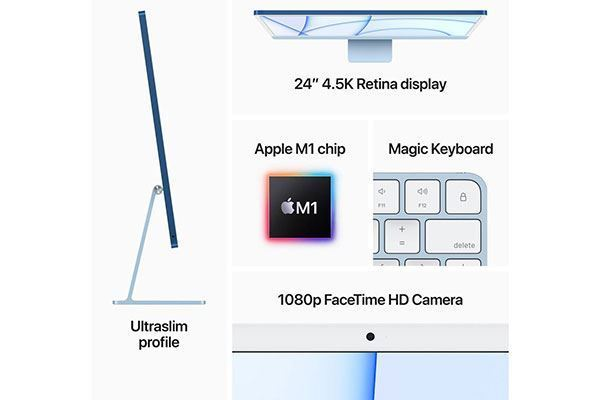"Picture of Apple iMac - Retina 4.5K 24"" Display - 7-core 256GB Blue [2021]"